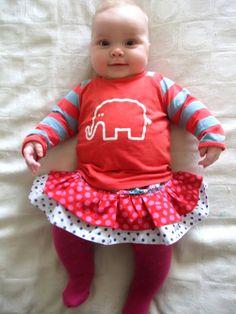 Tiered Ruffle Skirt for Baby Girls!
