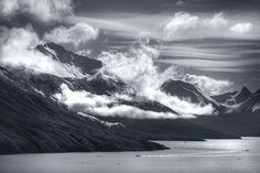 Lago Argentino desde el Glaciar Perito Moreno. El Calafate, Patagonia Argentina.
