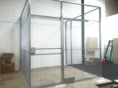 Security Cage Edison NJ, Security Cages installed in Raritan Center. Gales Industrial. 10W x 10D x 10H $2,998.00 delivered and installed. All Galvanized or Powder coat with slide door. Welded 8ga grid openings provide max visual security. Lifetime Warranty, Free onsite Layouts. Other sizes in stock.  contact Jack McDonald  GalesIndustrial@gmail.com      Security Cages Edison NJ 08837 Retail Security, New York City Ny, Project Ideas, Projects, Offices, Gabriel, Squash, Cage, Lockers