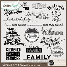 Families are Forever Word Art