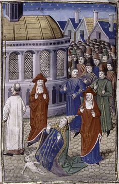 The Pope Joan story written in the 13th century. Jean de Mailly in 1254 CE, mentions an unnamed female pope who supposedly reigned around 1100 CE. Or a story attributed to Dominican chronicler Martinus Polonus in 1278 CE. This account places Pope Joan as ascending the papal throne in 855 CE after the death of Leo IV. She reigned for 2 yrs before her sex was discovered w/she gave birth on the streets of Rome.