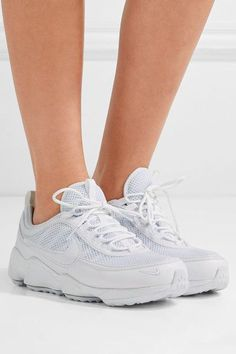 Nike - Air Zoom Spiridon Ultra Leather And Mesh Sneakers - White - US6.5