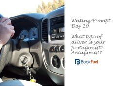 Writing prompt day 20 -- what type of drivers are you protagonist and antagonist? White knuckled, reckless, safe, mostly safe but likes to gun it, thinks he/she is a NASCAR driver? More importantly how do their passengers or other drivers react or feel about how your characters drive? Share your character's driving experience with us - or your own.  #writingprompt #amwriting #NaNoWriMo