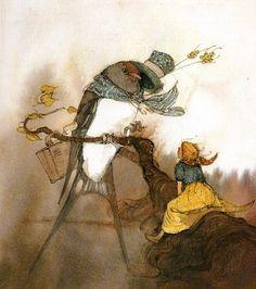 Lisbeth Zwerger (Austrian illustrator, 1954) ~ Thumbelina