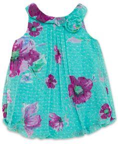 Baby Essentials Baby Girls' Flower Romper - Kids Baby Girl (0-24 months) - Macy's