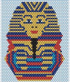 75marghe75 Bead By Bead: Schema brick stitck perline maschera tutankhamun