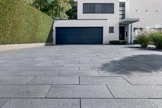 Modern Driveway, Driveway Design, Carport Canopy, Paving Ideas, Concrete Driveways, Outdoor Living, Outdoor Decor, House Entrance, Home Renovation