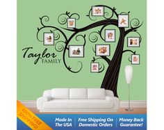 Family Tree Wall Decal  Photo Tree Wall Decal by WallArtForAllAges, $70.00