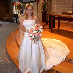 """We Love Our Brides Thank You Ms. A.  """" Thank you Mary's Designer Bridal my dress is so beautiful... my husband loved it!""""   #marys. #bestbridaldresses #designerbridaldresses #annapolisbridaldresses #marysbridal"""