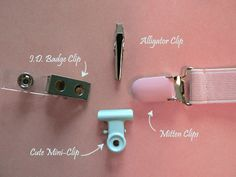 Using mini clips (the kind used for paper) to make a homemade pacifier clip is genius! They're cheap and come in a large pack, and you can get them even cheaper at back to school sales.