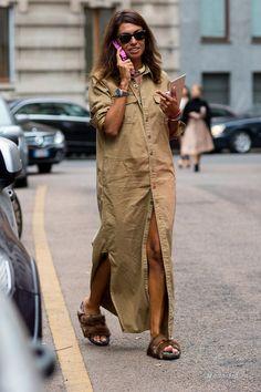 Мода и стиль: Как носить платье-рубашку летом (фото)