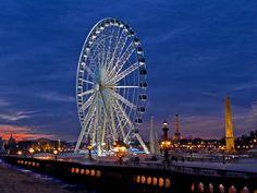 La Grande Roue de Marcel Campion, l'Obélisque à la Concorde, la Tour Eiffel