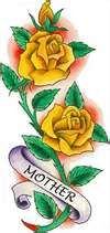 Yellow Roses Tattoo Design  i would get something similar except woth grandma instead of mother.