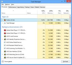 How to end tasks in task manager.