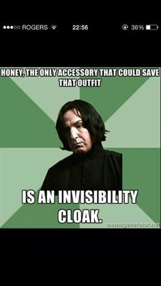 Sassy Snape! Hahaha! Thanks for this brother!
