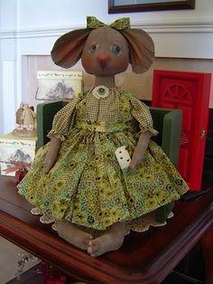 Prim epattern Missy Mouse Doll by Raggedy by Raggedyrhondas