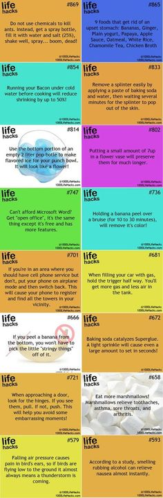 Life hacks interesting if to be believed - Simple Hack My Life, Simple Life Hacks, Useful Life Hacks, Awesome Life Hacks, 1000 Lifehacks, Home Hacks, Diy Hacks, Good Advice, Things To Know