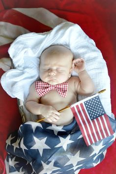4th of July baby picture #Patriotic