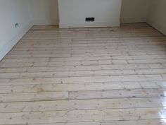 White washed pine floor, protected with bona naturale