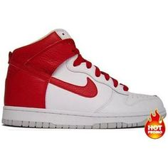 best sneakers 703a0 90103 Mens Nike Dunk High - White Red