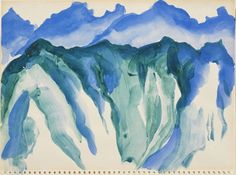 Geirgua O'Keeffe, ,Machu Picchu, Peru, n.d. Heckscher Museu of ArtWatercolor on paper, 9 x 11-7/8 in. Gift of the Baker/Pisano Collection.