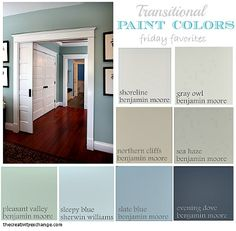 love the paint on the wall & Peasant Valley color ... Dining room. The gray is nice also for the rest of the house.