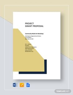 Simple Project Proposal Template - Word (DOC) | Google Docs | Apple (MAC) Apple (MAC) Pages | PDF | Template.net Writing A Business Proposal, Business Proposal Template, Project Proposal Template, Proposal Templates, Cover Page Template Word, Project Cover Page, Business Grants, Business Ideas, Grant Proposal