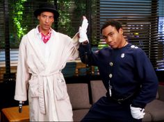Community: Danny Pudi as Abed and Donald Glover as Troy.
