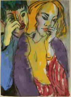 Brother and Sister - Emil Nolde Art Reproduction | Galerie Dada
