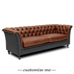 Granby Leather & Wool Sofa