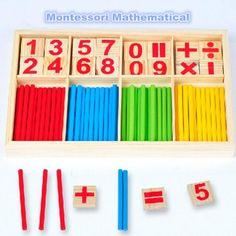 Toys Wooden Counting Sticks Toys Montessori Mathematical