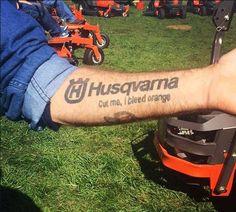 Husqvarna tattoo. Now that's loyalty!