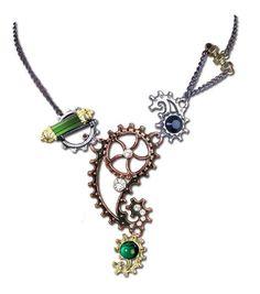 - Material: Hartzinn (dreifarbig) - mit Swarovski Kristall(en)