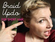 Braided 'Updo' For Short Hair
