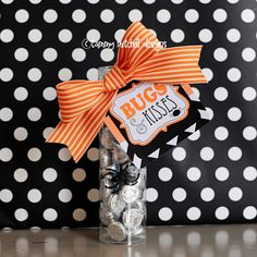 "Free Download: Free Halloween Treat Tags/ ""boo""ing Tags Bugs and Kisses"