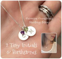 Hey, I found this really awesome Etsy listing at https://www.etsy.com/listing/244695130/mom-jewelry-2-two-tiny-silver-initials