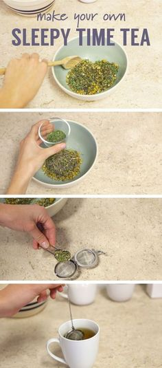 Having trouble falling asleep? A video and more on how to make and brew your own… Having trouble falling asleep? A video and more on how to make and brew your own sleepy time tea. You will definitely sleep better tonight! Tea Before Bed, Sleep Tea, Best Tea For Sleep, Homemade Tea, Brew Your Own, Peppermint Tea, Chamomile Tea, Tips & Tricks, Tea Blends
