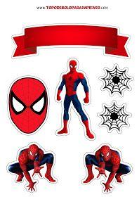 Topo de bolo homem aranha Spiderman Birthday Invitations, Spiderman Cake Topper, Fondant Baby Shoes, Cupcake Toppers Free, Avenger Cake, Diy Envelope, Cake Decorating Tutorials, Printable Stickers, Birthday Fun
