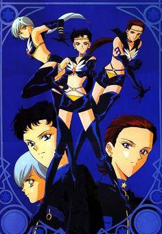 Sailor Starlights - Sailor Star Fighter, Maker, Healer - Sailor Moon Sailor Stars