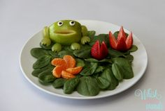 Fresh Froggie Salad Get your kids to eat their veggies! Clean Eating fun food for kids!