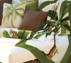 Palm Tree Beach Towel   Pottery Barn