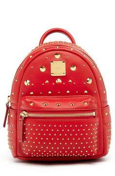 MCM  X Mini Stark - Bebe Boo  Studded Leather Backpack Mcm Backpack 14ddb9e6a7c1c