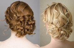 Curly updos are my favorite. @Kristina Kilmer O'Neill the second one, what do you think