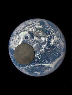 Satélite Dscovr, da Nasa, faz uma sequência de imagens da Lua transitando à frente da Terra; 'câmera' está a 1,5 milhão de km do planeta