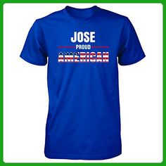 Jose Proud American 4th July Independence Day Gift - Unisex Tshirt Royal XL - Holiday and seasonal shirts (*Amazon Partner-Link)
