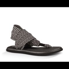 ISO: Sanuk Yoga Sling size 8 I'm not too picky on the color. Just prefer the soles to be black :) looking to spend around $15. Thank you! Sanuk Shoes Sandals
