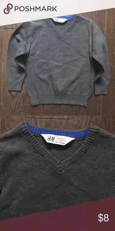 18m/2y Boys H&M Gray V-neck Sweater *Gently used, great condition *Clean, stain free  *Smoke and pet free *No holds/trades H&M Shirts & Tops Sweaters