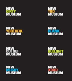 New Museum Identity by Wolff Olins