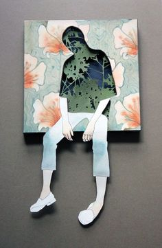 PAPER CUT MIXED MEDIA BY CHRISTINE KIM.