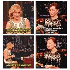 Amy Poehler & Rashida Jones on Late Night with Jimmy Fallon love parks And recreation